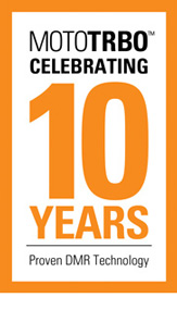 mototrbo 10 years orange logo