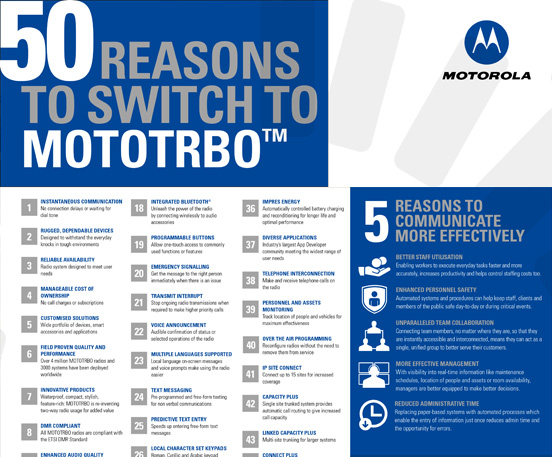 50 reasons to switch to mototrbo