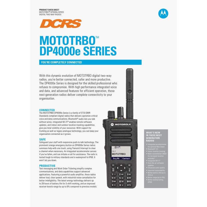 dp4000 series spec sheet
