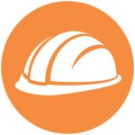 lone worker orange icon