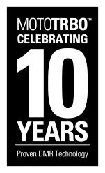 MOTOTRBO 10 Year Logo